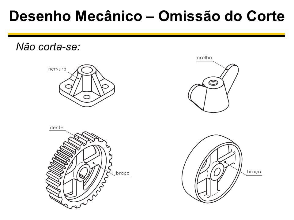 Desenho Mecânico – Omissão do Corte Não corta-se: