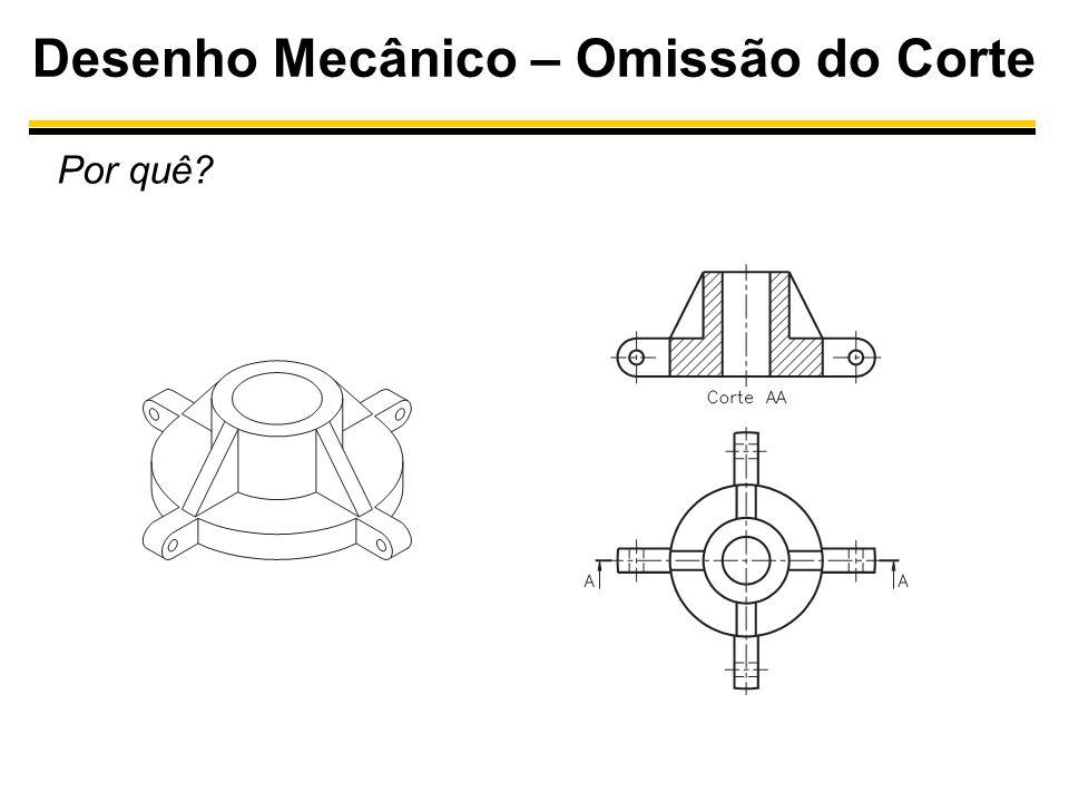 Desenho Mecânico – Omissão do Corte Por quê?