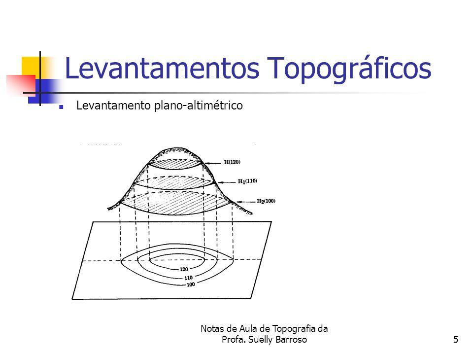 Notas de Aula de Topografia da Profa. Suelly Barroso5 Levantamentos Topográficos Levantamento plano-altimétrico