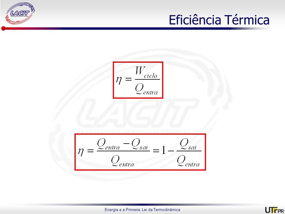 Energia e a Primeira Lei da Termodinâmica Eficiência Térmica