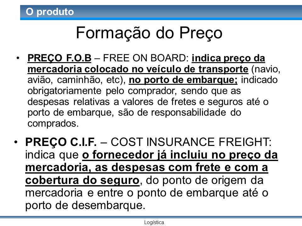 Logística O produto Formação do Preço PREÇO F.A.S.