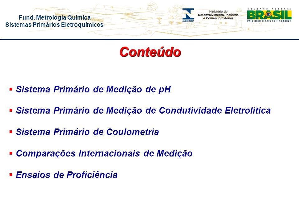 Fund. Metrologia Química Sistemas Primários Eletroquímicos Coulometria