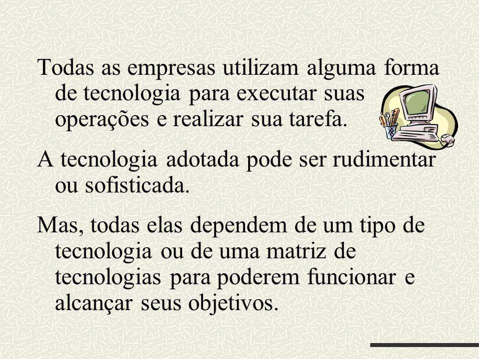 ABORDAGEM DE THOMPSON Thompson propõe uma tipologia de tecnologias na qual identifica três tipos de tecnologias, de acordo com seu arranjo na empresa: A) Tipologia de Elos em seqüência B) Tipologia Mediadora C) Tipologia Intensiva
