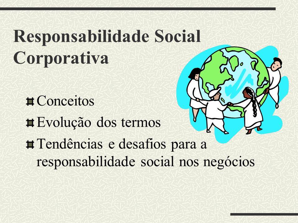 Responsabilidade Social Corporativa Conceitos Evolução dos termos Tendências e desafios para a responsabilidade social nos negócios