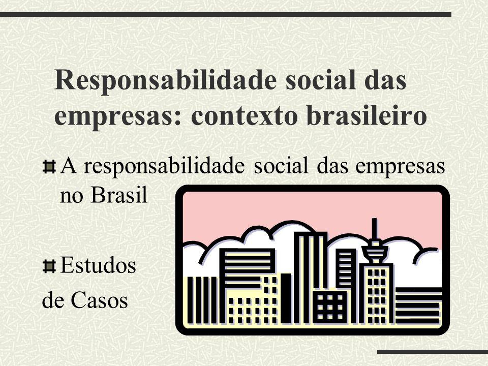 Ética, Valores e Cultura Ética, moral e responsabilidade social corporativa no terceiro milênio Cultura e responsabilidade social corporativa no terce