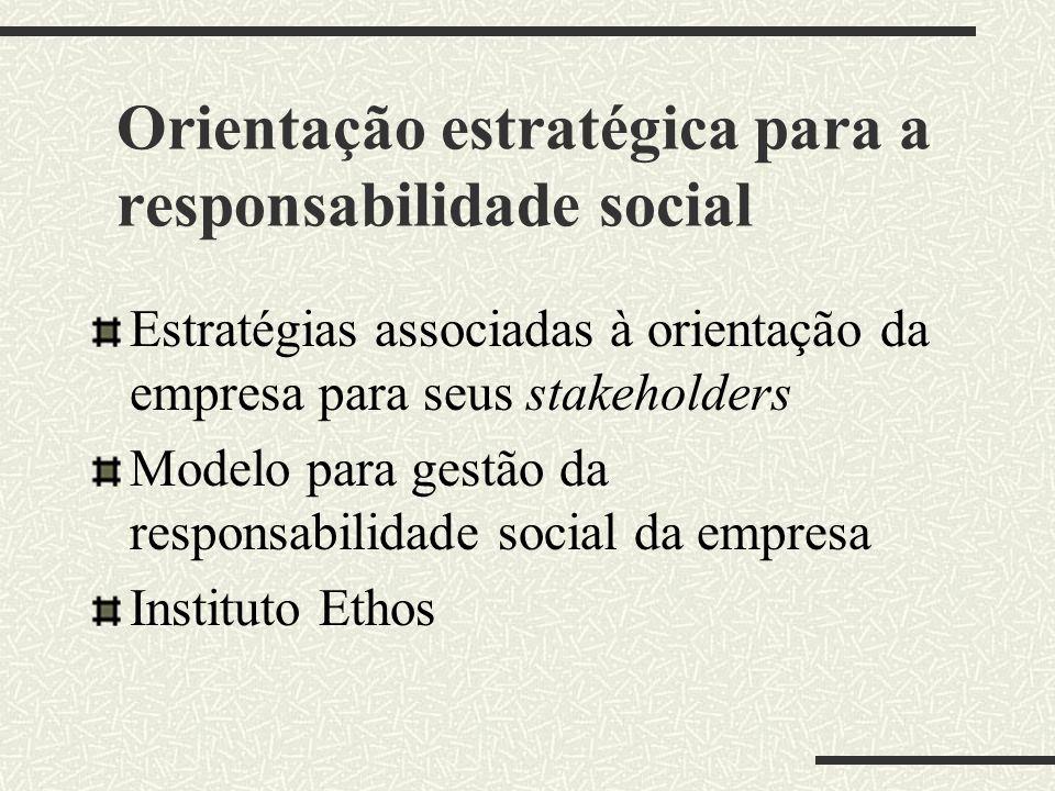 Responsabilidade social das empresas: contexto brasileiro A responsabilidade social das empresas no Brasil Estudos de Casos