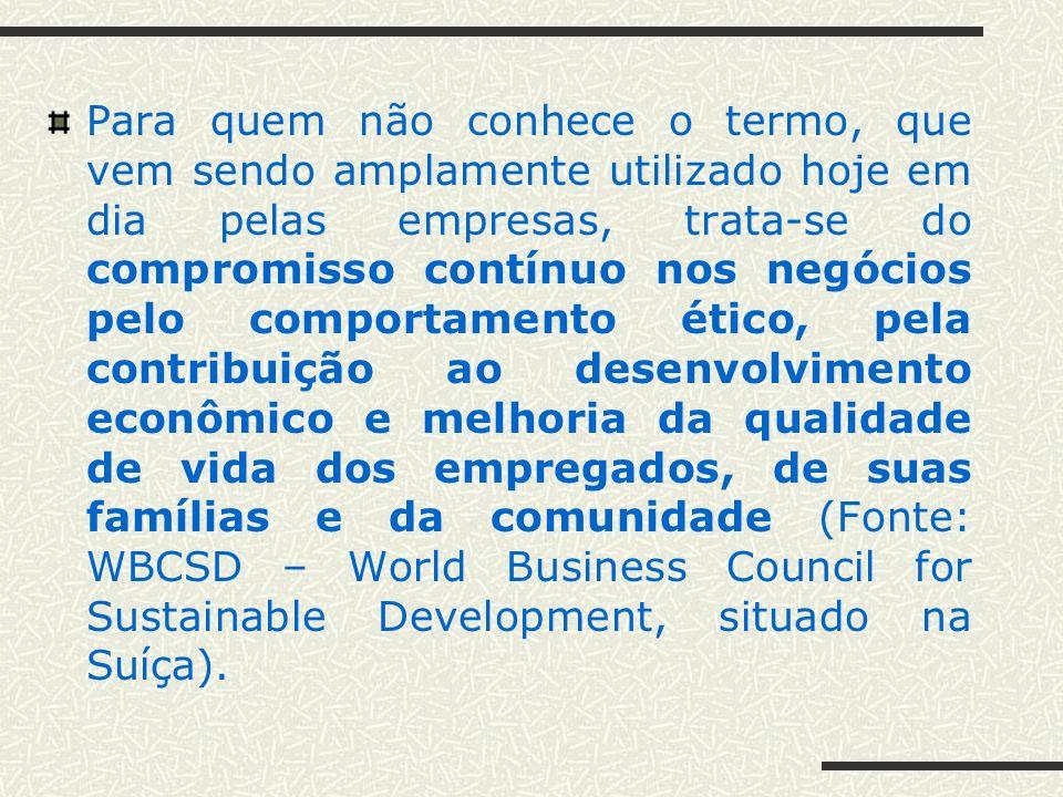 Responsabilidade Social nos Negócios O que é Responsabilidade Social? Responsabilidade Social: para quem?