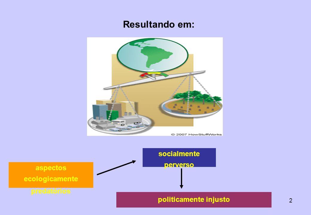 13 UNCED RESULTOU EM 5 DOCUMENTOS: - A AGENDA 21 ( PENSE GLOBALMENTE AJA LOCALMENTE ) * implementação de um novo modelo de desenvolvimento que propicie o manejo sustentável dos recursos naturais e a preservação da biodiversidade; * relações econômicas justas e igualitárias entre os países e seu diversos segmentos; * que se criem fontes de recursos destinados ao financiamento de pequenos projetos locais como: PCHs, projetos de energia renovável, que utilize fonte de matéria prima como o sol, biomassa e vento; * que se gerem recursos semelhantes aos grandes projetos sobretudo se apresentarem economia de energia e menor nível de agressão ambiental.