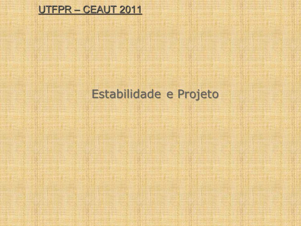 UTFPR – CEAUT 2011 Estabilidade e Projeto