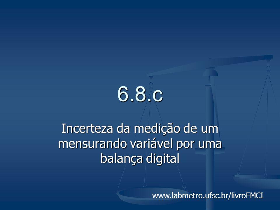 www.labmetro.ufsc.br/livroFMCI 6.8.c Incerteza da medição de um mensurando variável por uma balança digital