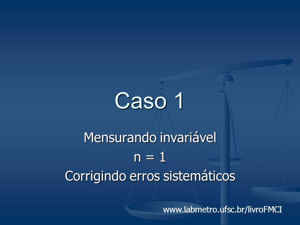 www.labmetro.ufsc.br/livroFMCI Caso 1 Mensurando invariável n = 1 Corrigindo erros sistemáticos