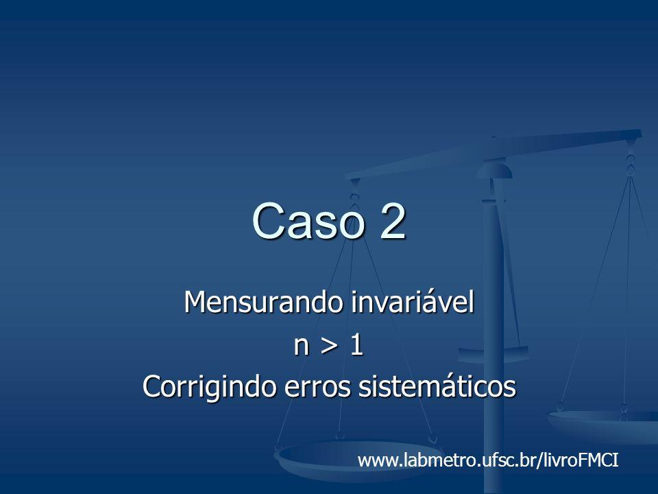 www.labmetro.ufsc.br/livroFMCI Caso 2 Mensurando invariável n > 1 Corrigindo erros sistemáticos