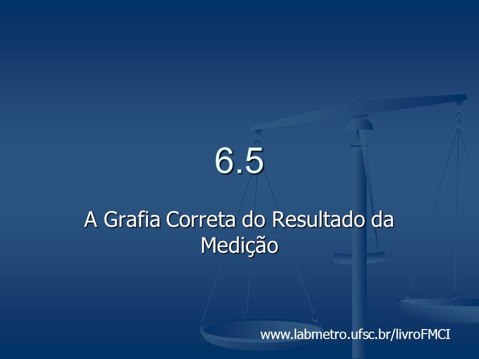 www.labmetro.ufsc.br/livroFMCI 6.5 A Grafia Correta do Resultado da Medição