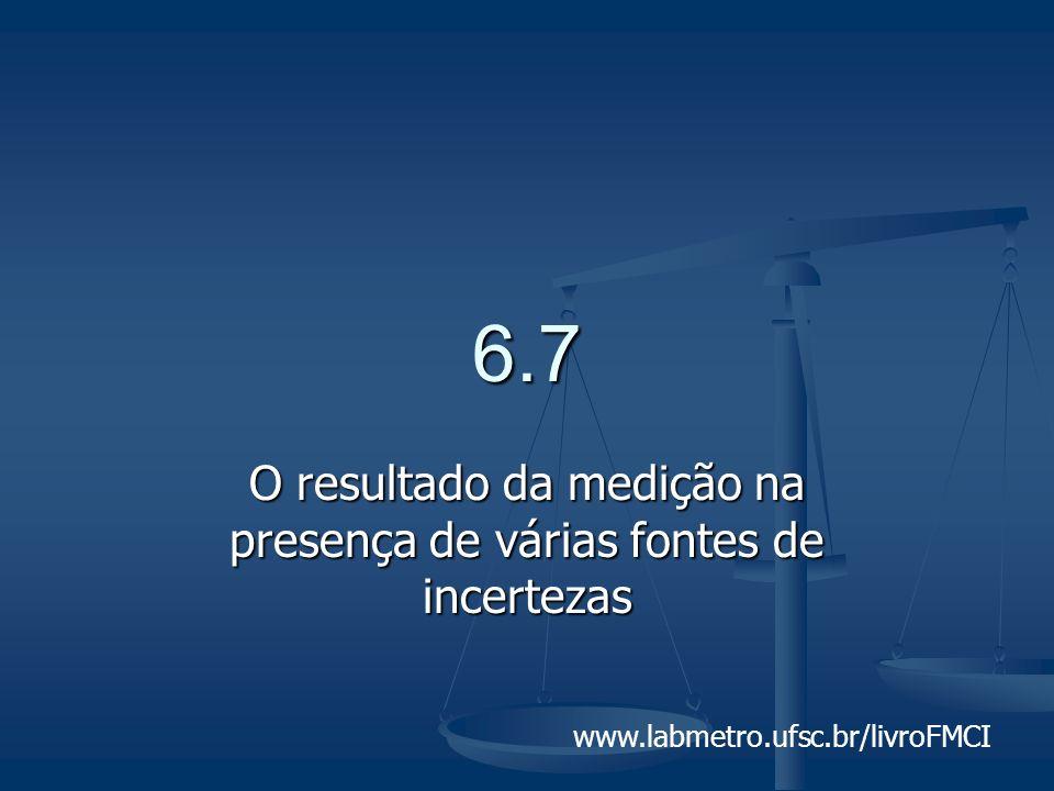 www.labmetro.ufsc.br/livroFMCI 6.7 O resultado da medição na presença de várias fontes de incertezas