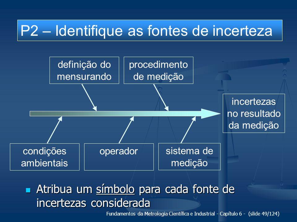 Fundamentos da Metrologia Científica e Industrial - Capítulo 6 - (slide 49/124) incertezas no resultado da medição definição do mensurando procediment