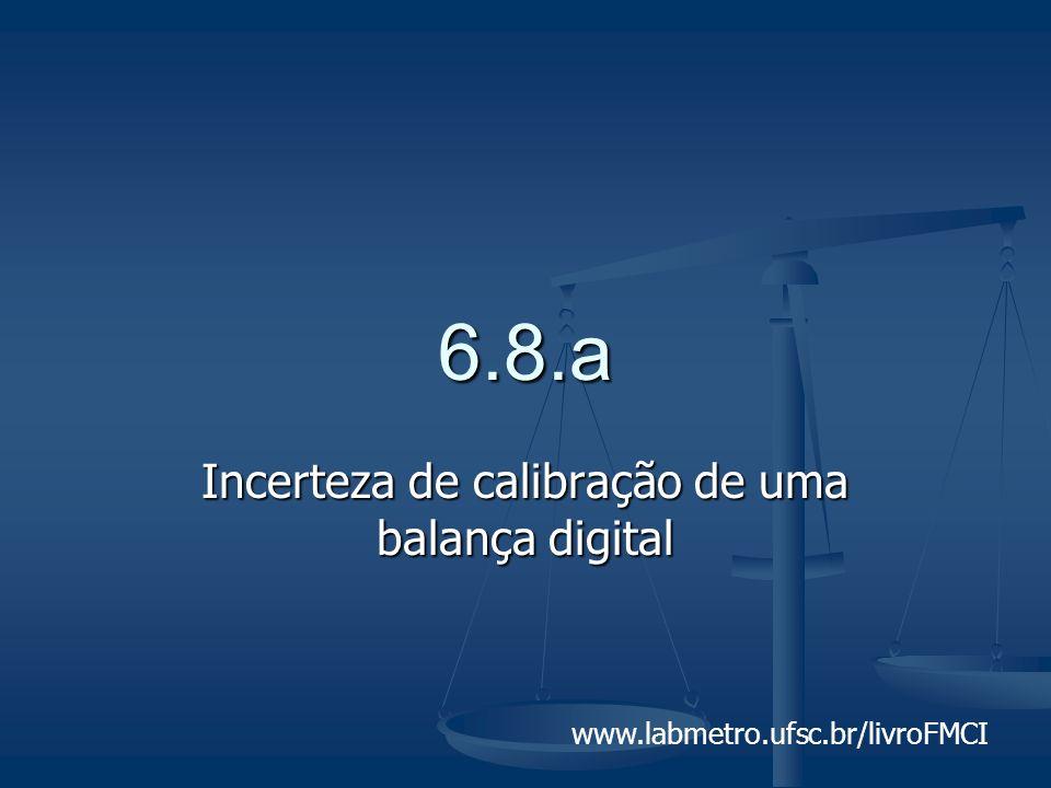 www.labmetro.ufsc.br/livroFMCI 6.8.a Incerteza de calibração de uma balança digital