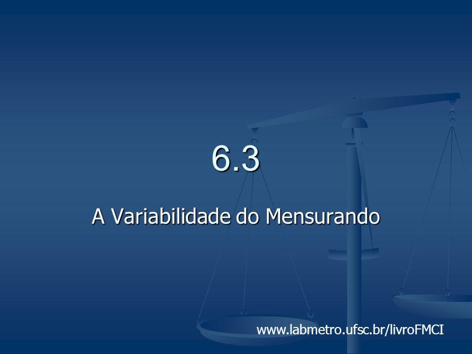 www.labmetro.ufsc.br/livroFMCI 6.3 A Variabilidade do Mensurando