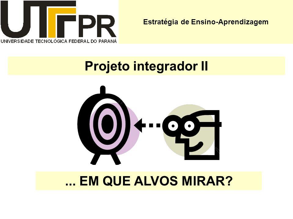 Projeto integrador II... EM QUE ALVOS MIRAR? Estratégia de Ensino-Aprendizagem