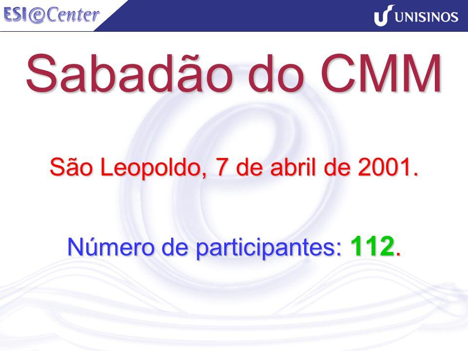 Sabadão do CMM São Leopoldo, 7 de abril de 2001. Número de participantes: 112.