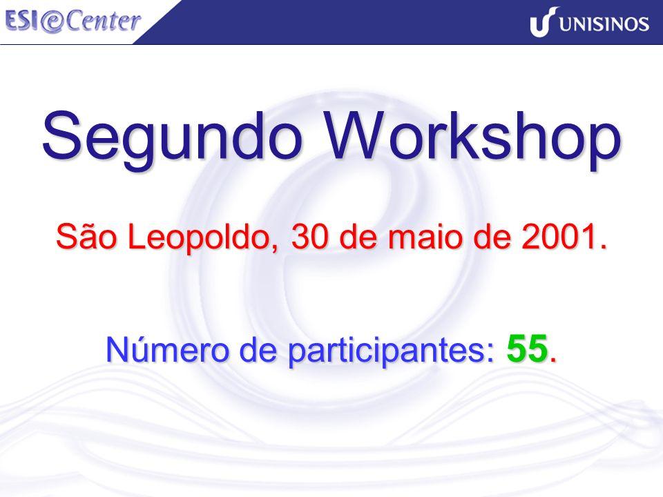 Segundo Workshop São Leopoldo, 30 de maio de 2001. Número de participantes: 55.