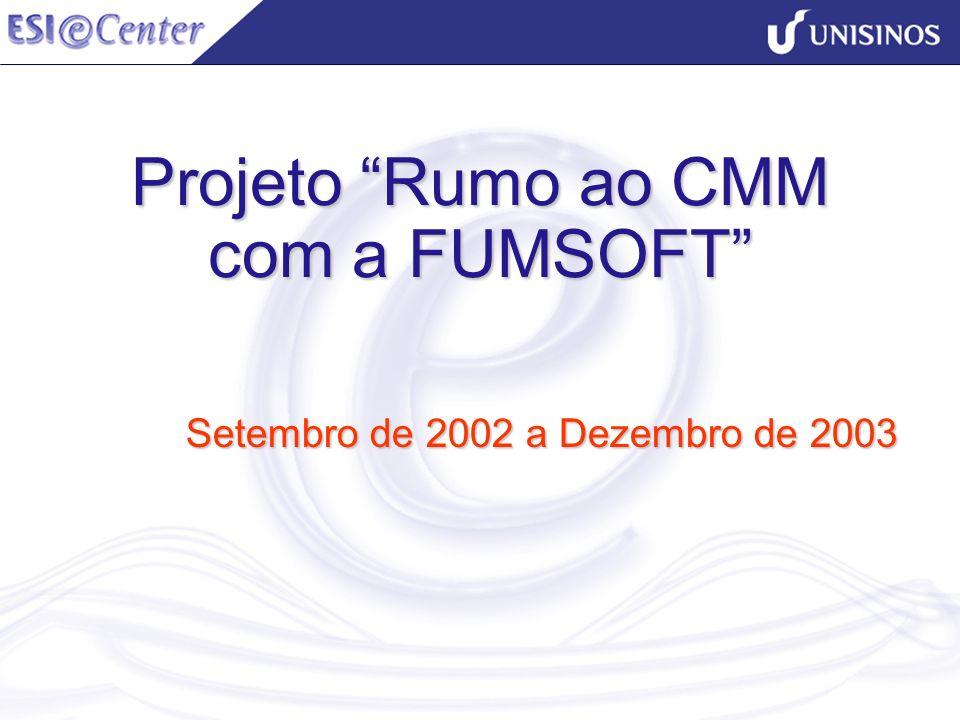 Projeto Rumo ao CMM com a FUMSOFT Setembro de 2002 a Dezembro de 2003