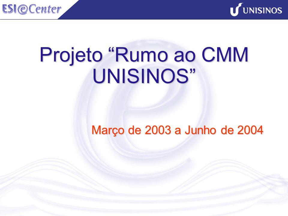 Projeto Rumo ao CMM UNISINOS Março de 2003 a Junho de 2004