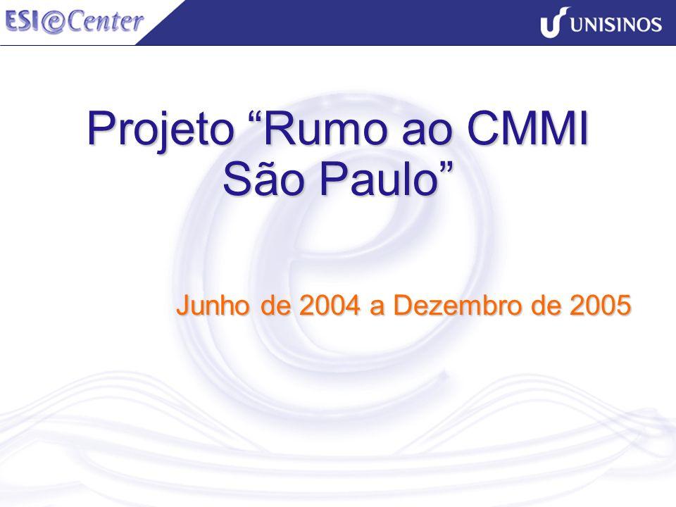 Projeto Rumo ao CMMI São Paulo Junho de 2004 a Dezembro de 2005