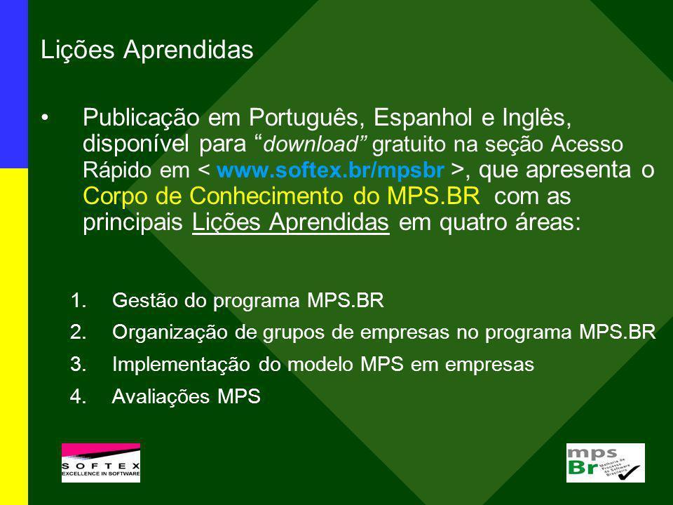 Lições Aprendidas Publicação em Português, Espanhol e Inglês, disponível para download gratuito na seção Acesso Rápido em, que apresenta o Corpo de Co
