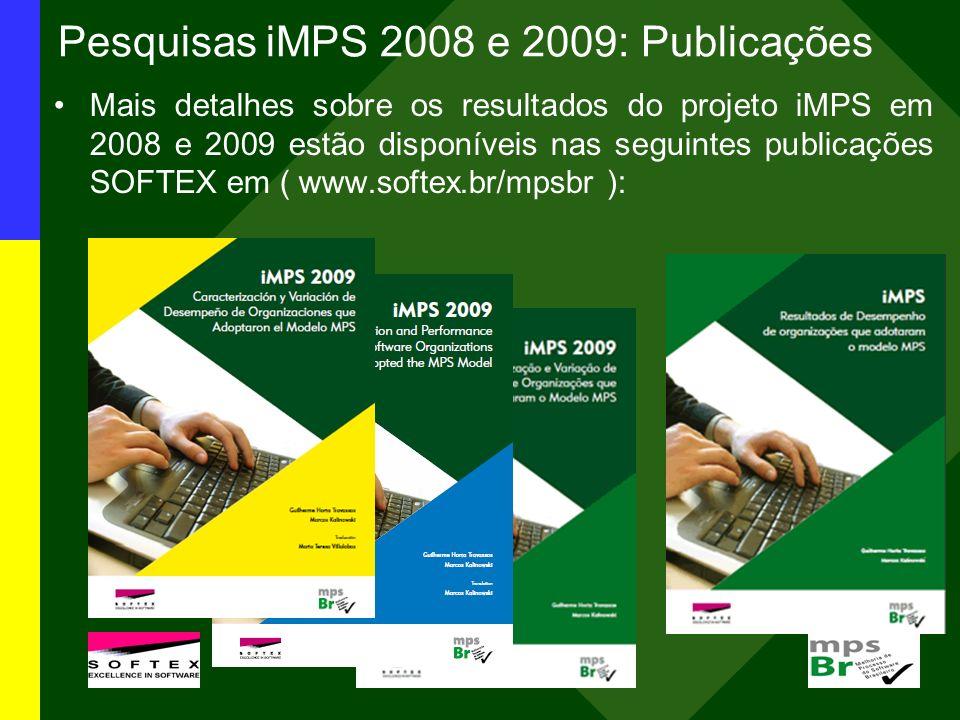 Pesquisas iMPS 2008 e 2009: Publicações Mais detalhes sobre os resultados do projeto iMPS em 2008 e 2009 estão disponíveis nas seguintes publicações S