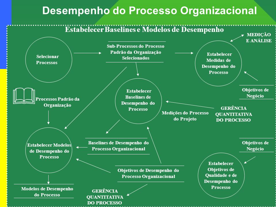 Projeto: mps Br – melhoria de processo do software Brasileiro Desempenho do Processo Organizacional Objetivos de Desempenho do Processo Organizacional