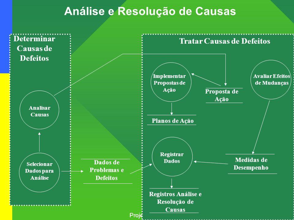Projeto: mps Br – melhoria de processo do software Brasileiro Análise e Resolução de Causas Estabelecer Baselines Implementar Propostas de Ação Regist