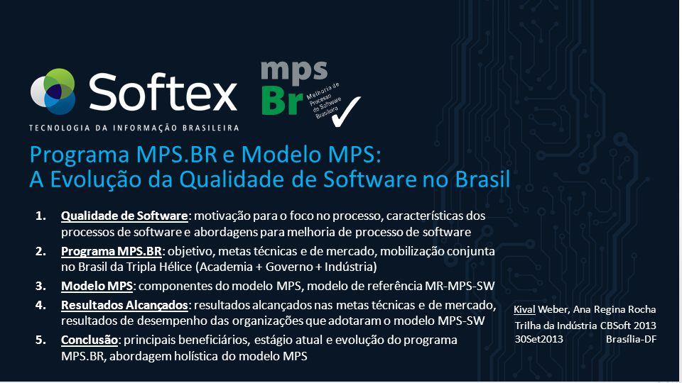 Programa MPS.BR e Modelo MPS: A Evolução da Qualidade de Software no Brasil 1.Qualidade de Software: motivação para o foco no processo, característica