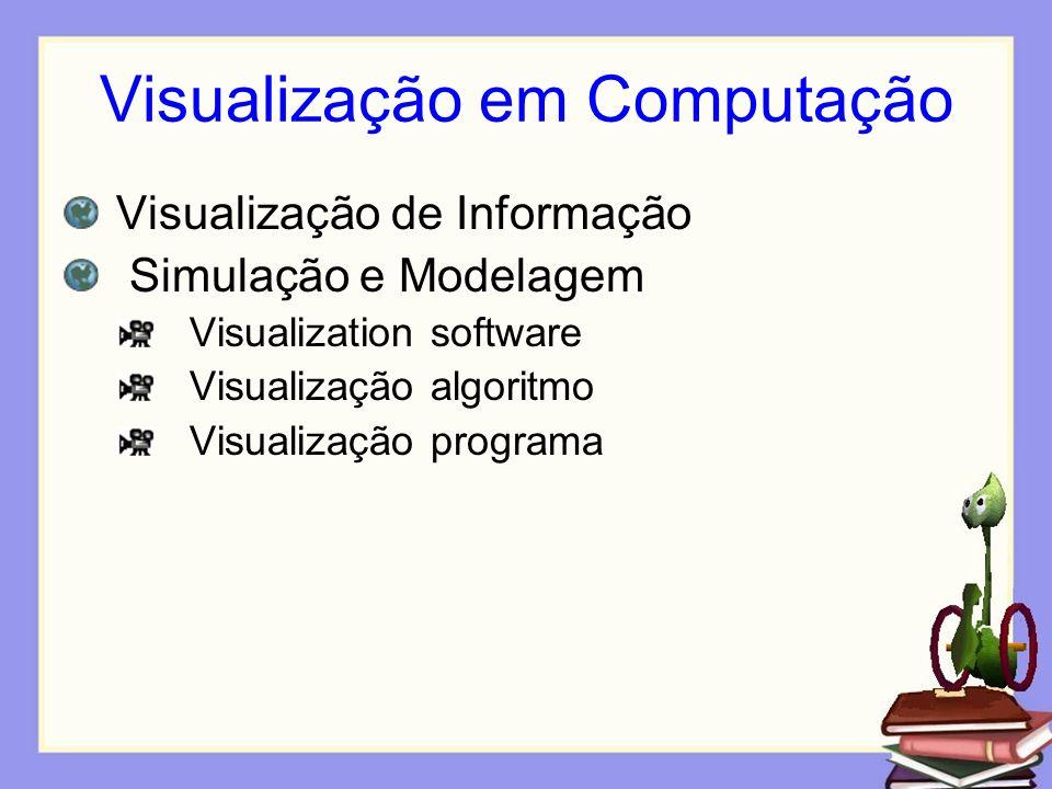 Visualização em Computação Visualização de Informação Simulação e Modelagem Visualization software Visualização algoritmo Visualização programa