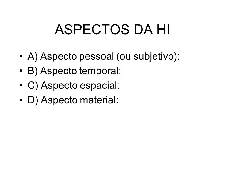 A) Aspecto pessoal (ou subjetivo): É o atributo da h.