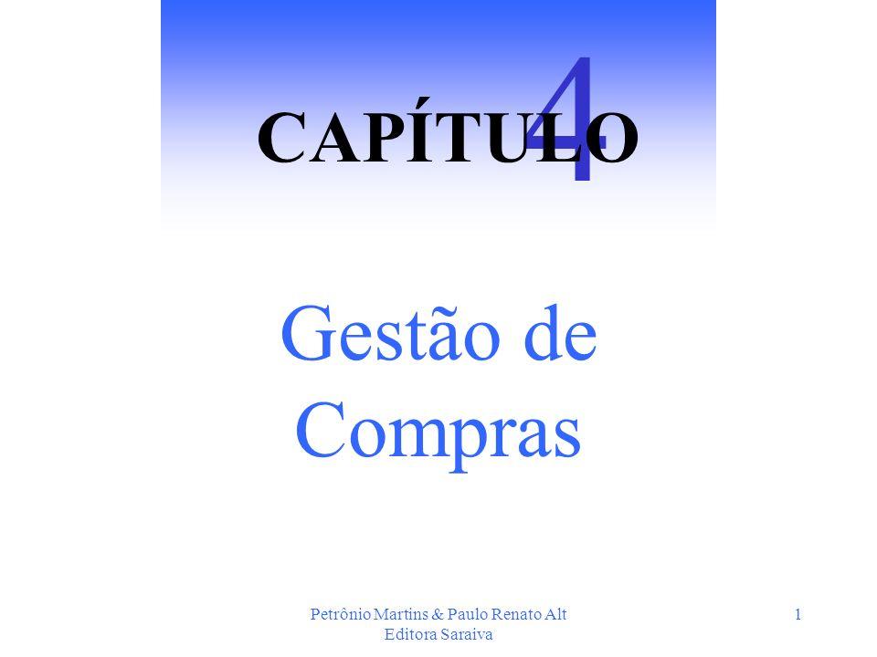 Petrônio Martins & Paulo Renato Alt Editora Saraiva 1 Gestão de Compras 4 CAPÍTULO