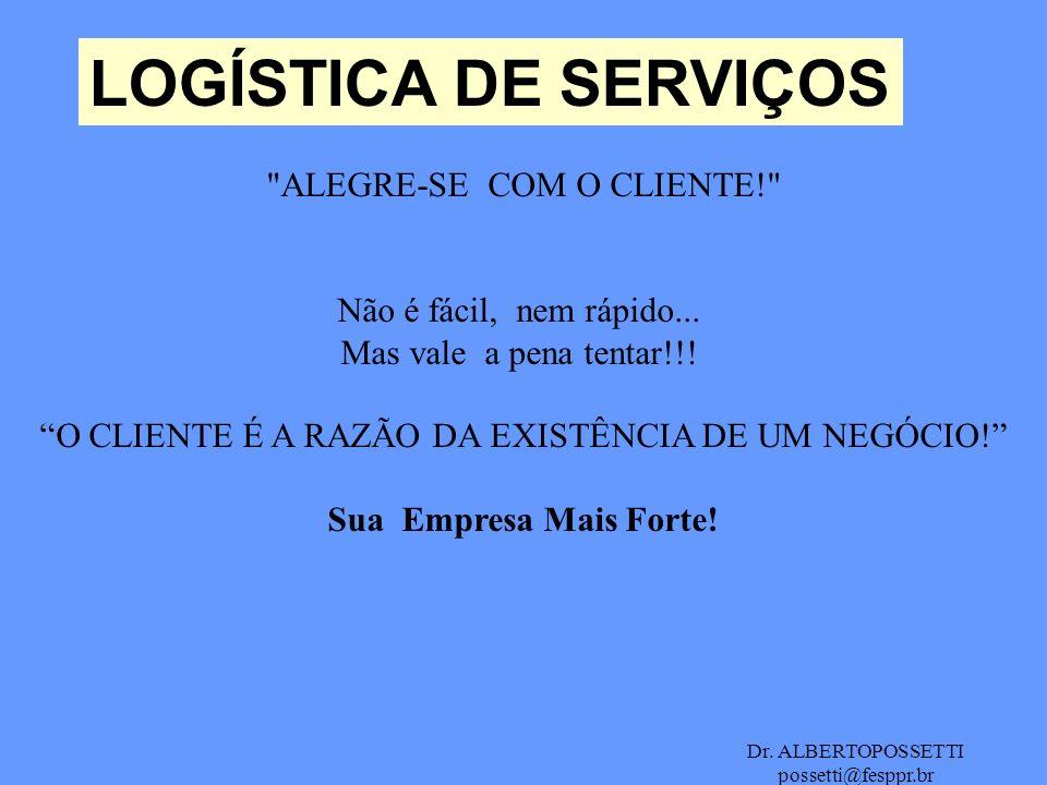 Dr. ALBERTOPOSSETTI possetti@fesppr.br LOGÍSTICA DE SERVIÇOS
