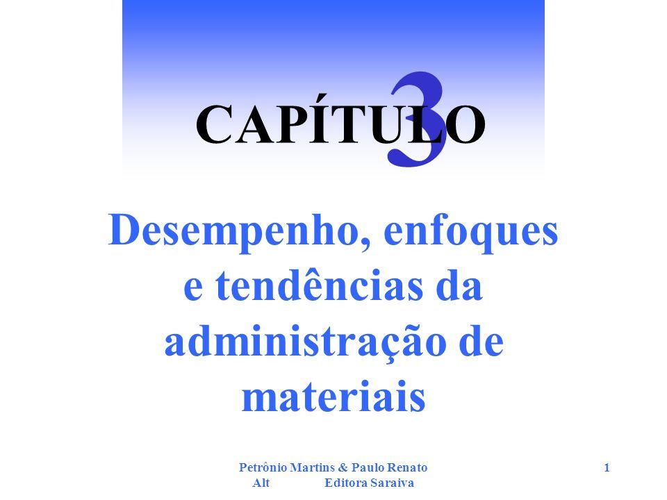 Petrônio Martins & Paulo Renato Alt Editora Saraiva 1 Desempenho, enfoques e tendências da administração de materiais 3 CAPÍTULO