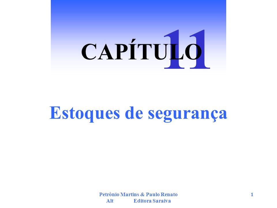 Petrônio Martins & Paulo Renato Alt Editora Saraiva 2 Estoque de Segurança com Demanda Variável e Tempo de Atendimento Constante Tempo ES PP Estoque D2 D D1