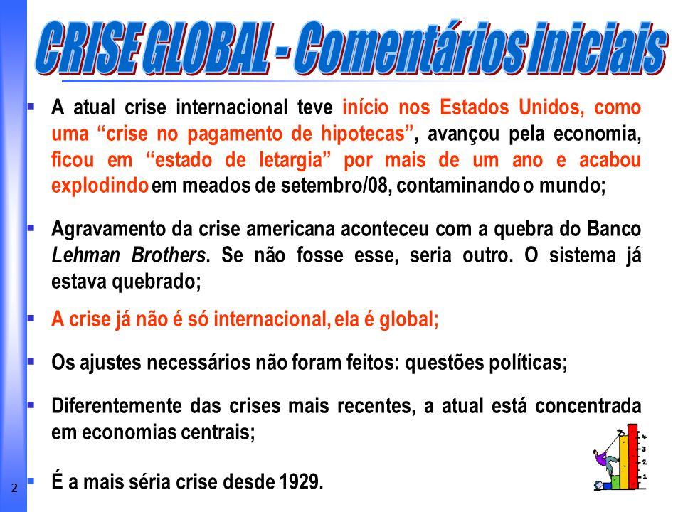 43 No meio do atual tsunami financeiro internacional é necessário confiar que o Brasil de hoje é diferente do Brasil de ontem.