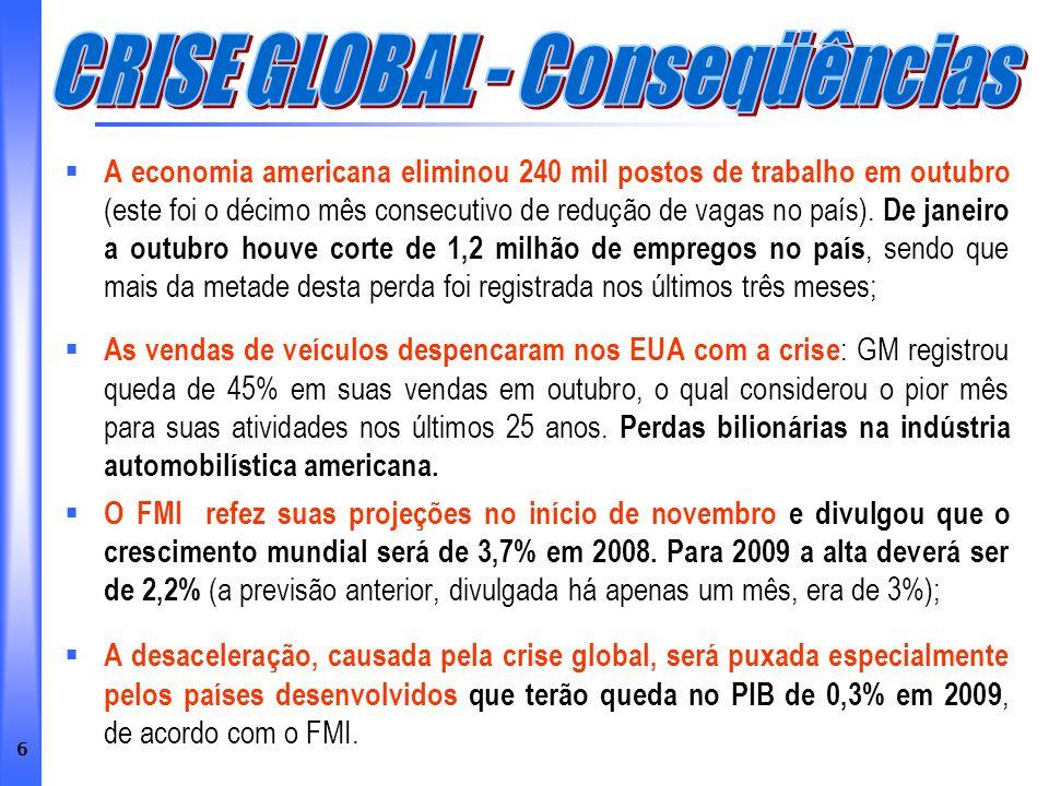 37 Trecho do artigo: A crise sem lágrimas de Delfim Netto Publicado no Valor Econômico – 11/11/2008 Vamos ousar.