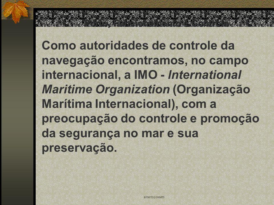 albertopossetti Porto, Funcionamento e Controle Como autoridades de controle da navegação encontramos, no campo internacional, a IMO - lnternational M