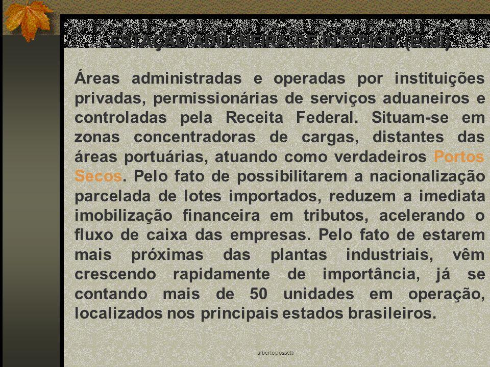 albertopossetti ESTAÇÃO ADUANEIRA DE INTERIOR (Eadi) Áreas administradas e operadas por instituições privadas, permissionárias de serviços aduaneiros