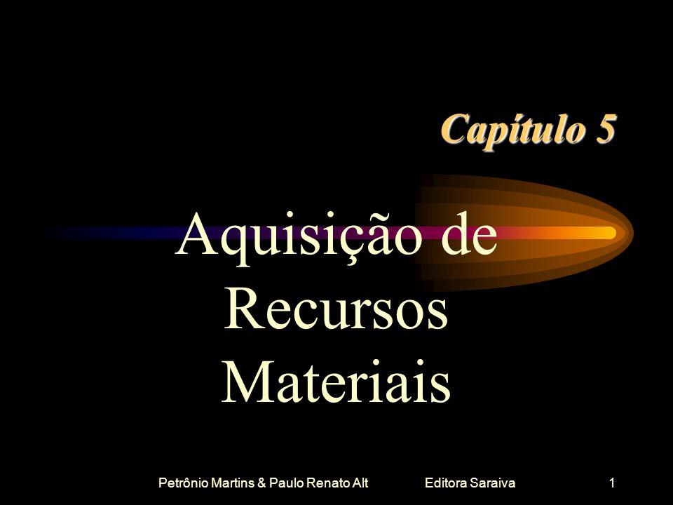 Petrônio Martins & Paulo Renato Alt Editora Saraiva1 Capítulo 5 Aquisição de Recursos Materiais