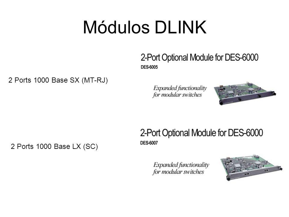 MÓDULOS DLINK 12 Portas 100 base FX (MT-RJ) 2 Portas 1000 base SX (sc)