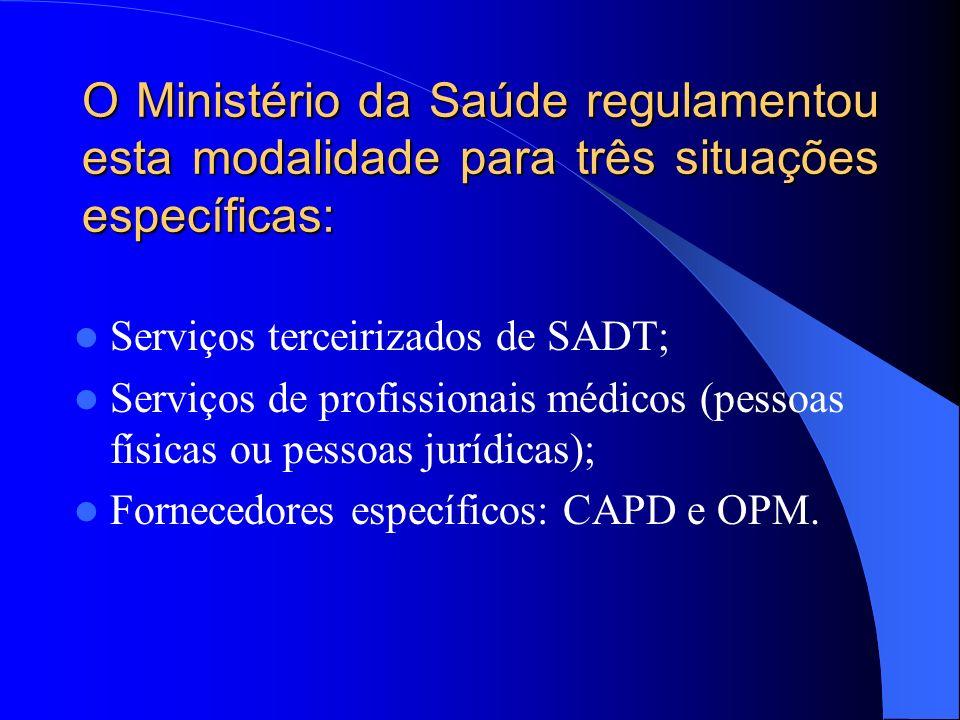 Repasse mediante cessão de crédito presumido O prestador de serviços contratado pelo SUS autoriza formalmente, mediante cláusula contratual, o gestor