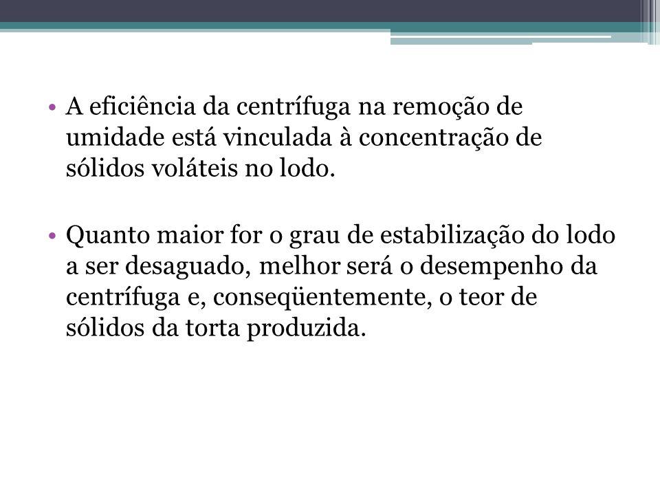 Desempenho de centrífugas na desidratação de lodo: TIPO DE LODOCONC.