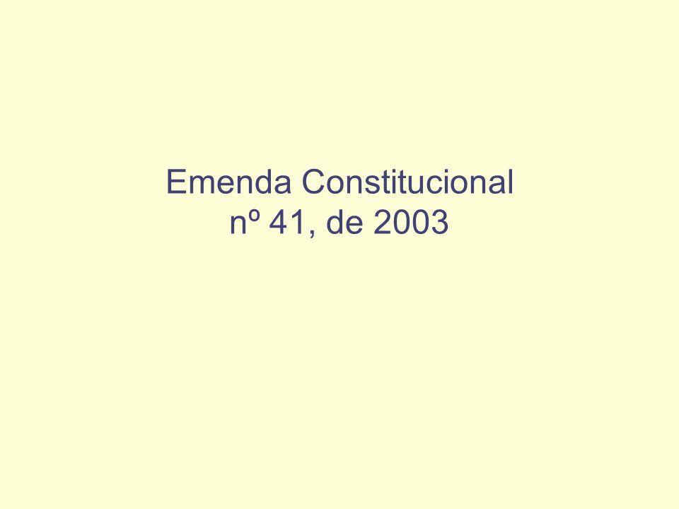 Emenda Constitucional nº 41, de 2003