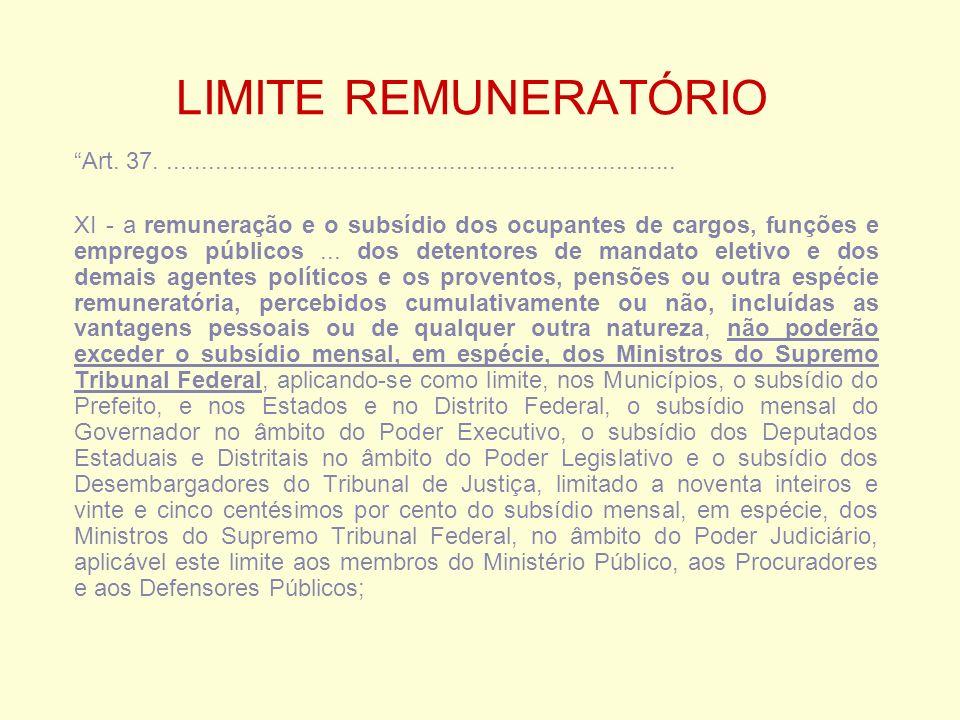 LIMITE REMUNERATÓRIO Art.
