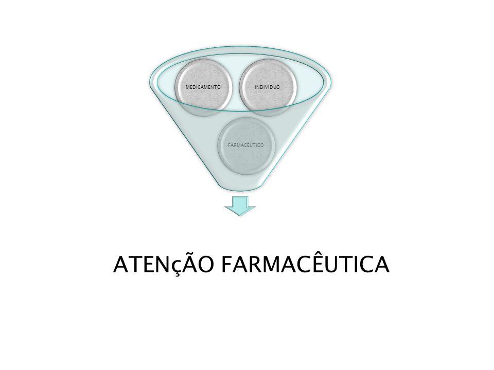 FARMACËUTICOMEDICAMENTOINDIVIDUO ATENçÃO FARMACÊUTICA