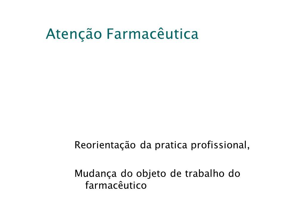 Atenção Farmacêutica Reorientação da pratica profissional, Mudança do objeto de trabalho do farmacêutico